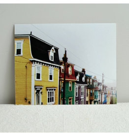 Painted Houses Foggy Day Print