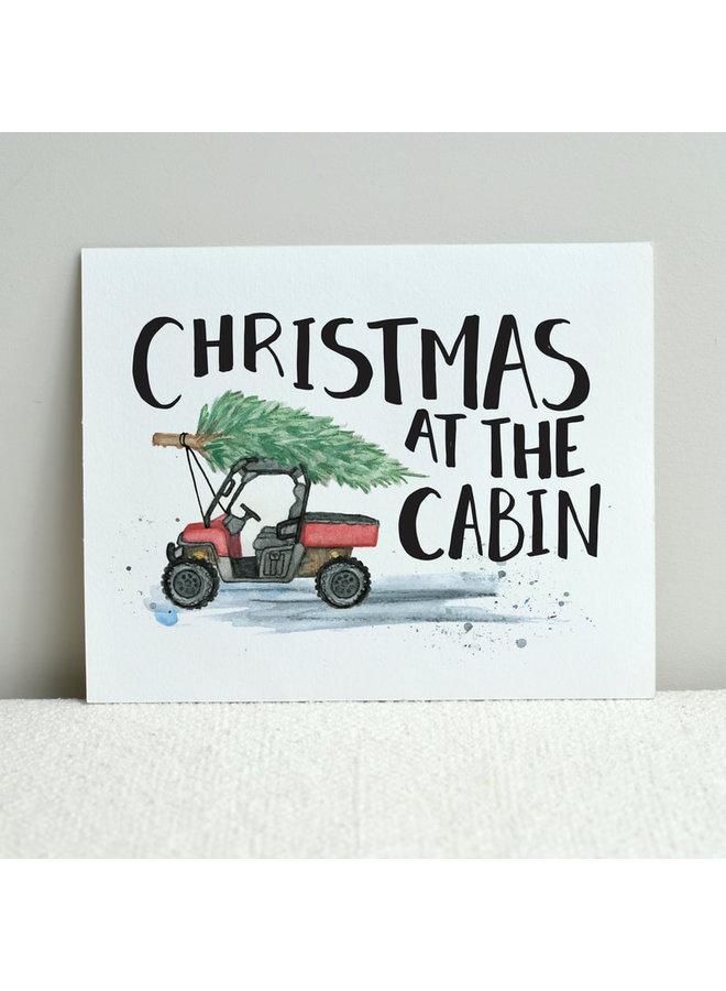 Christmas At The Cabin Print