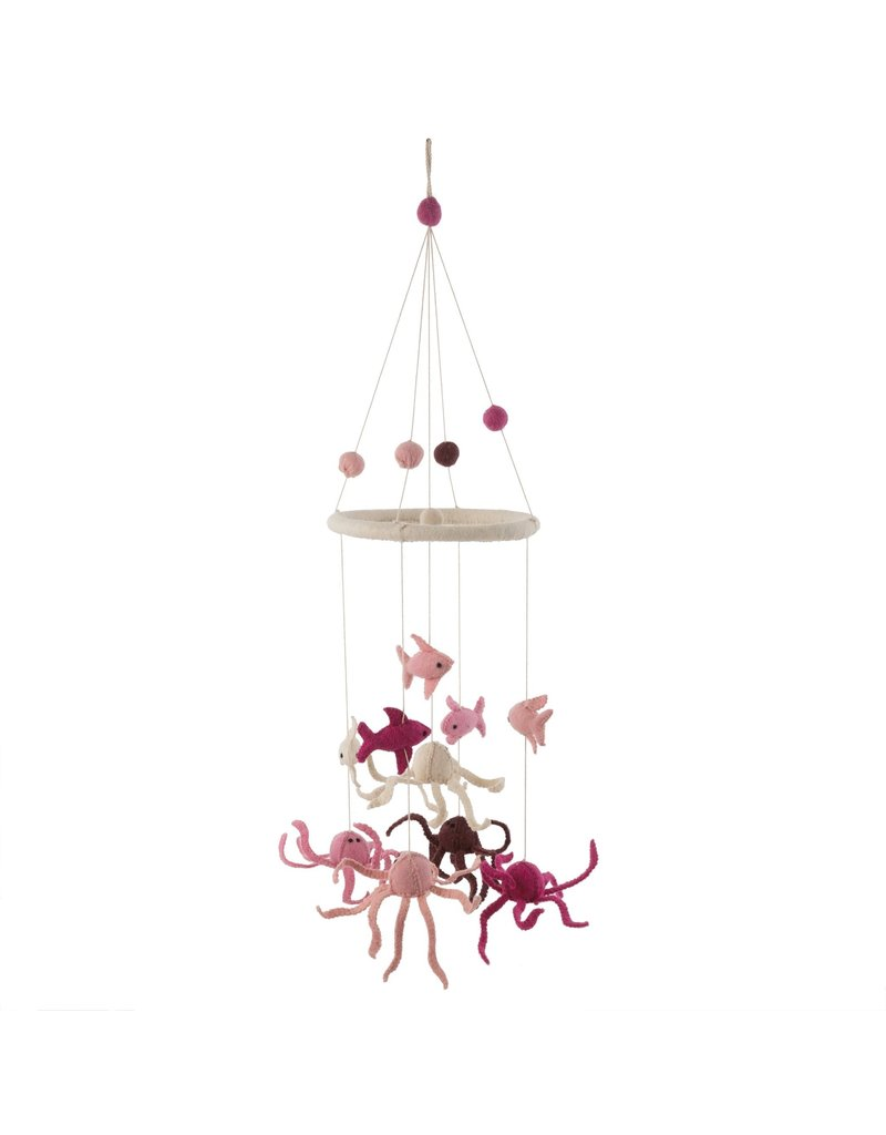 Pink Under the Sea Mobile