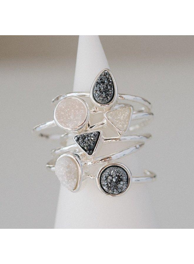 Dainty Druzy Ring