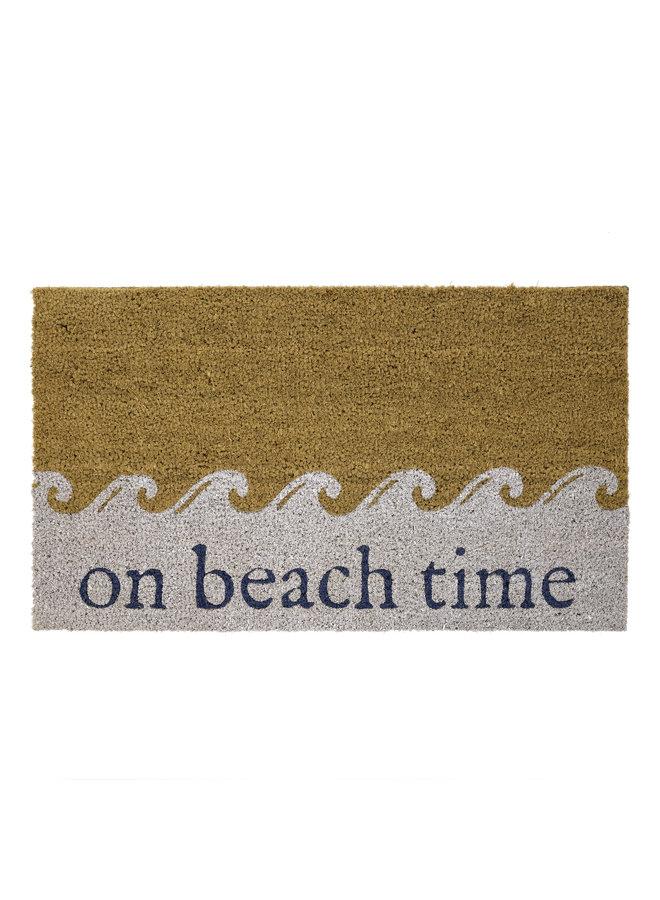 Doormat  On Beach Time