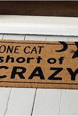 One Cat Crazy Doormat