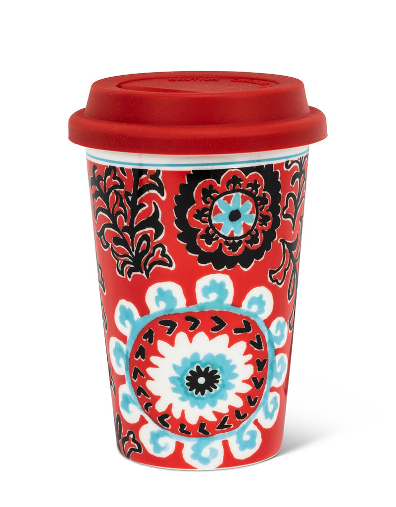Red Tribal Travel Mug