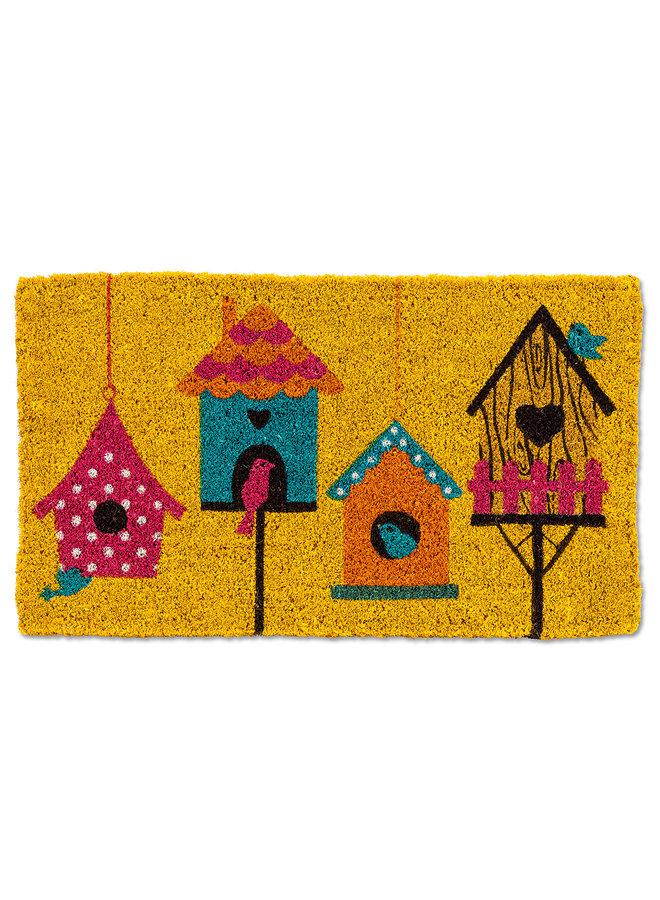 Birdhouse Row Doormat