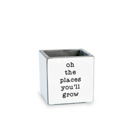 Oh The Places You'll Grow Planter