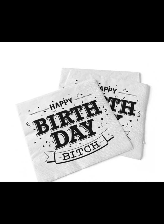 Napkin - Happy Birthday Bitch