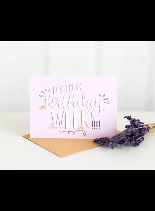 Birthday Week Card