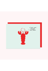 Card Lobster: I Just Want To Pinch Some Cheeks!