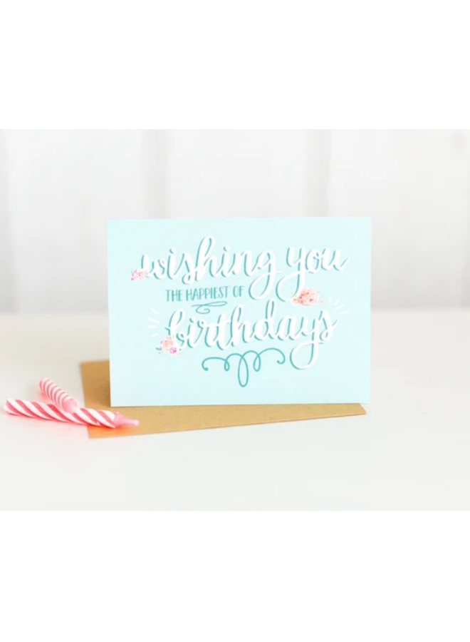 Wishing You The Happiest Birthday Card