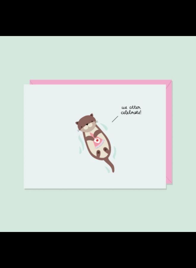 Card We Otter Celebrate
