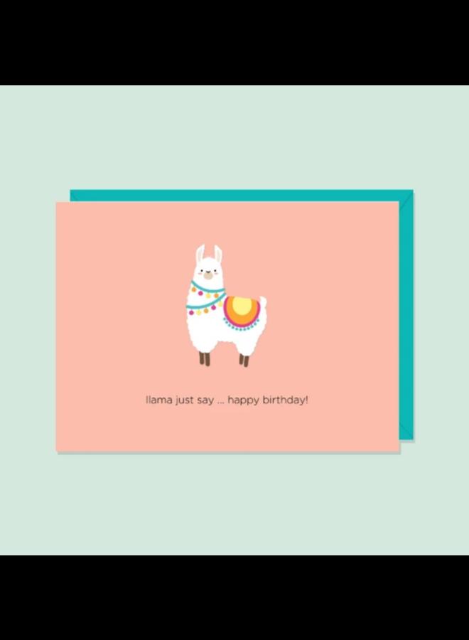 Llama Just Say Card