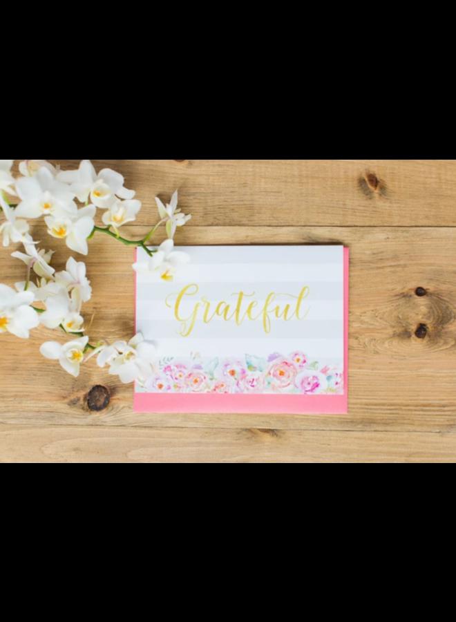 Card Grateful Peonies