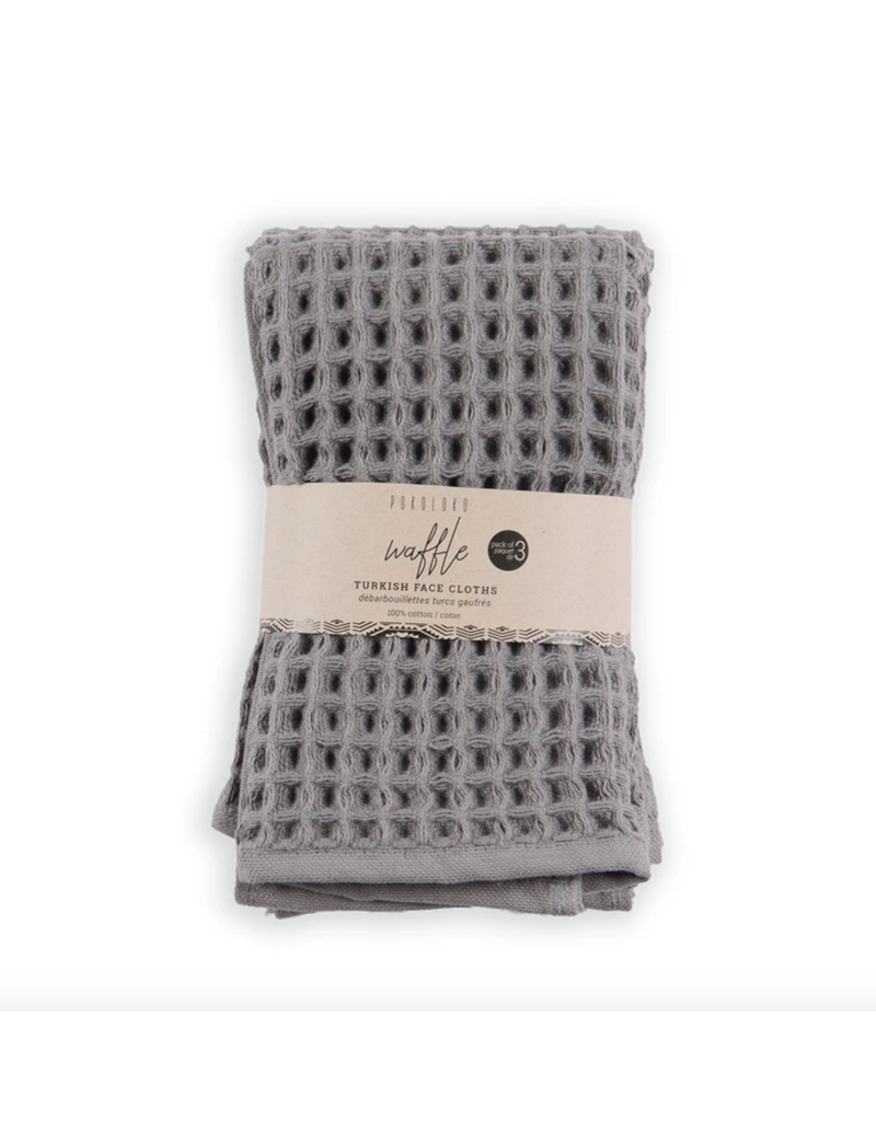 Waffle Face Towel - Pack of 3