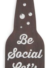 Be Social Bottle Opener Magnet
