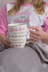 Life is Short - 24 oz Pierced Porcelain Cup