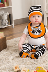Orange Raccoon Baby Bib