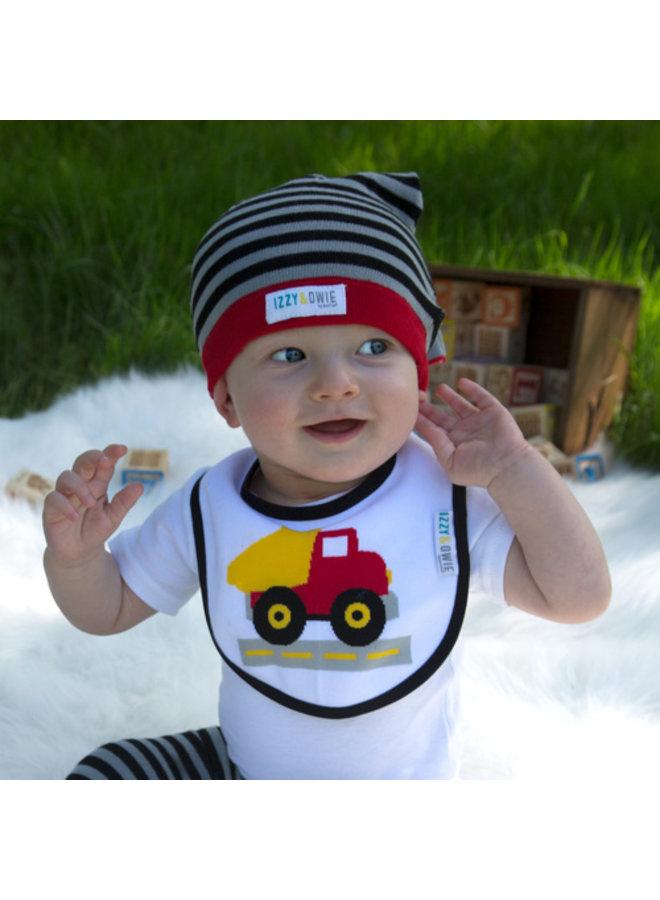Red and Yellow Truck Baby Bib