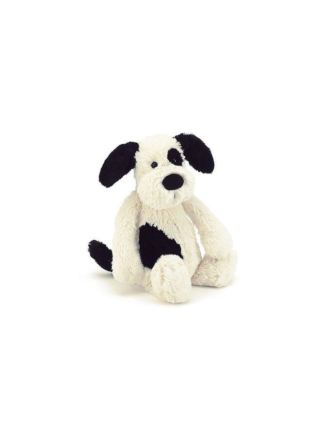 Bashful Small Black & Cream Puppy
