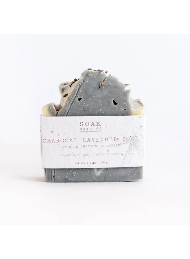 Charcoal Lavender Soap Bar
