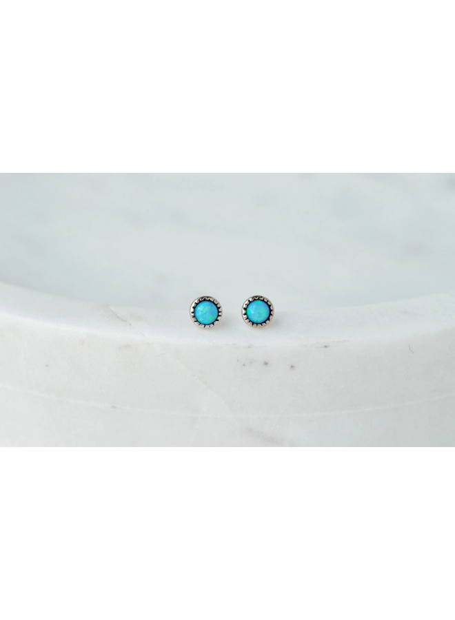 Azure Opal Earrings