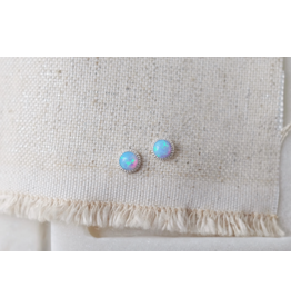 Braided Azure Opal Earrings