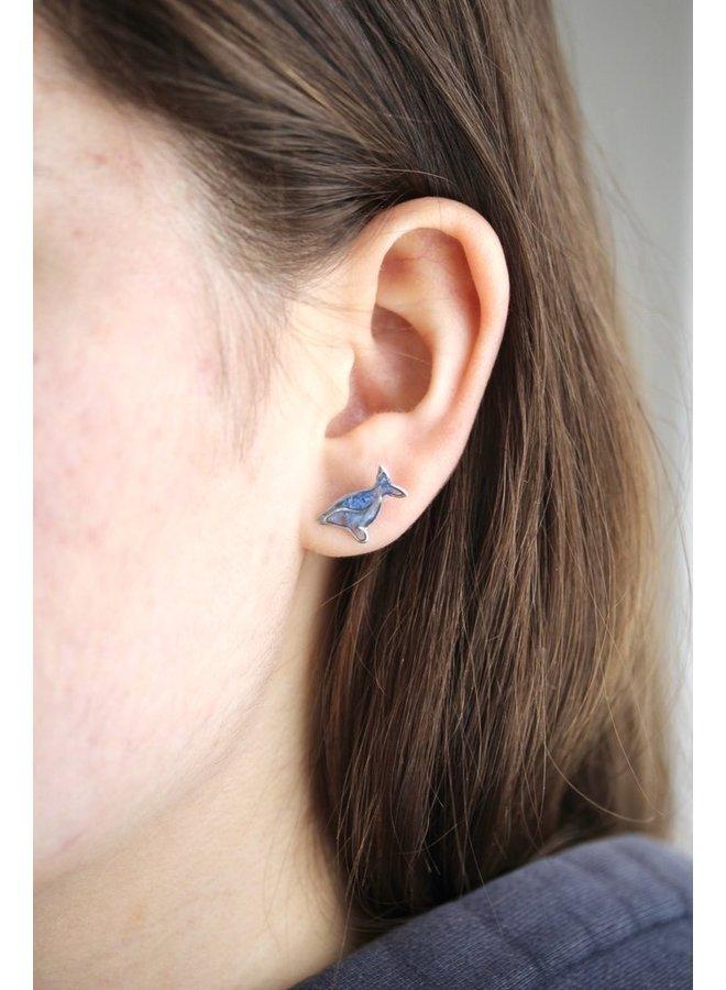 Humpback Whale Stud Earrings