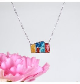 4 Row House Necklace