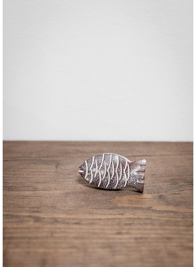 Carved Fish Knob