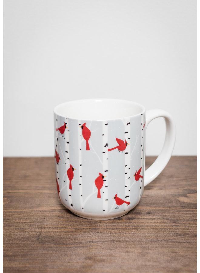 Cardinals & Birch Mug