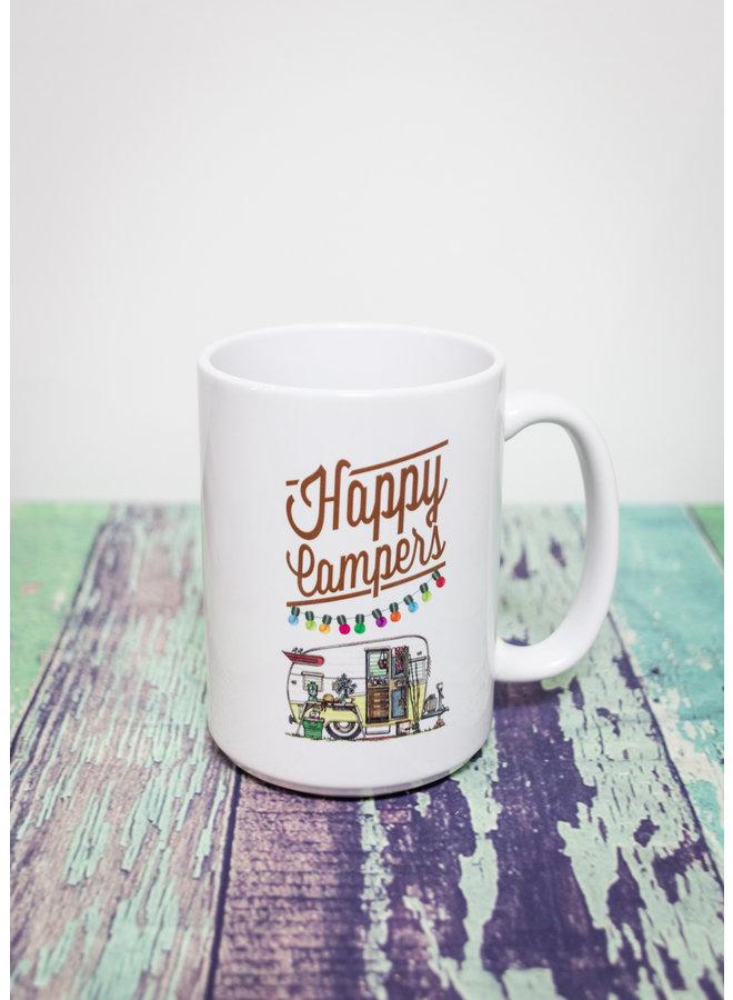 Coffee Mug Happy Campers Trailer