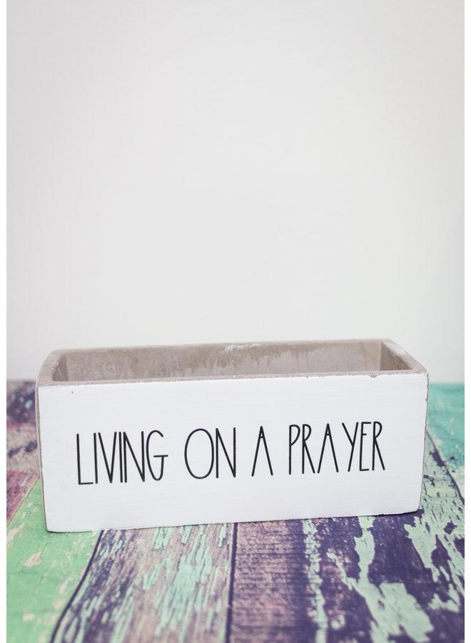 Living on a Prayer 8x3 Planter