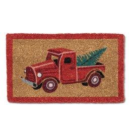 Red Truck w/Tree Doormat