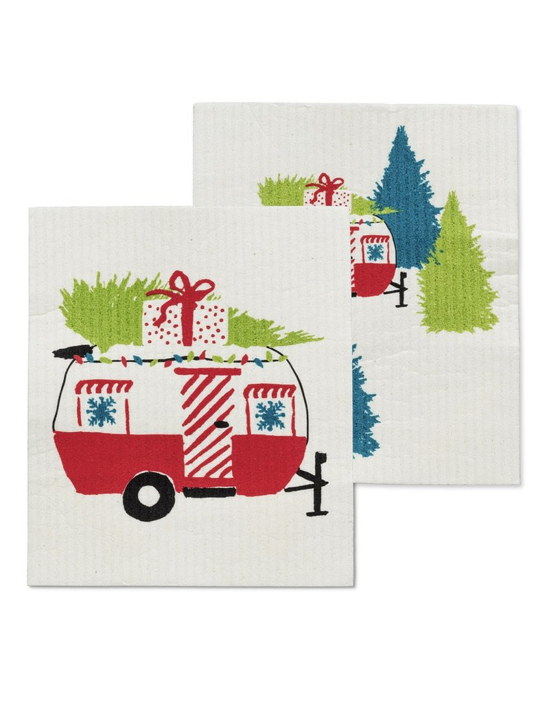 Holiday Campers Dishcloths Set of 2