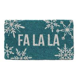Snowflake Fa La La Doormat