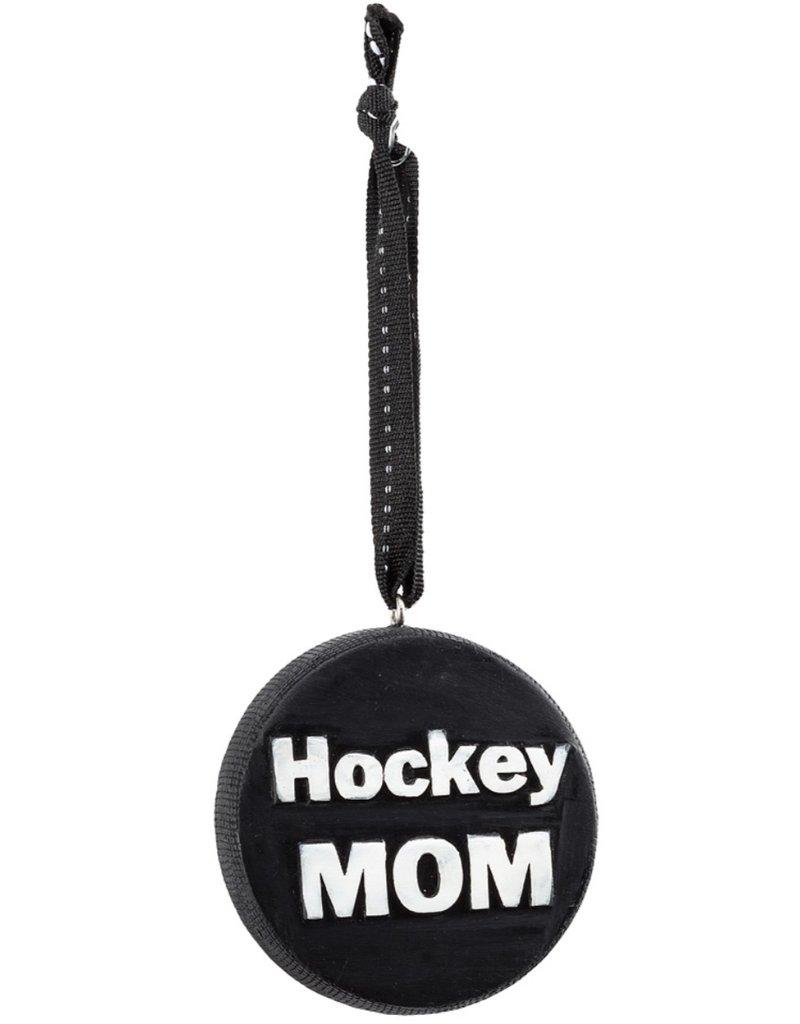 Hockey Mom Puck Ornament