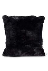 Black Luxury Faux Fur Pillow