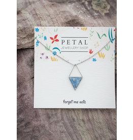 Medium Windowed Triangle Necklace