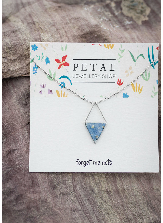 Medium Windowed Triangle Necklace