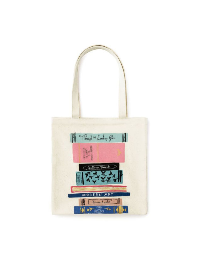 Canvas Book Tote Stack of Classics