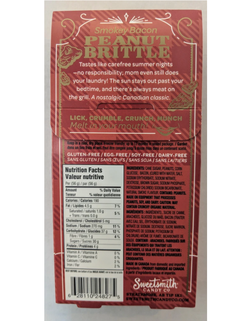 Smokey Bacon Peanut Brittle