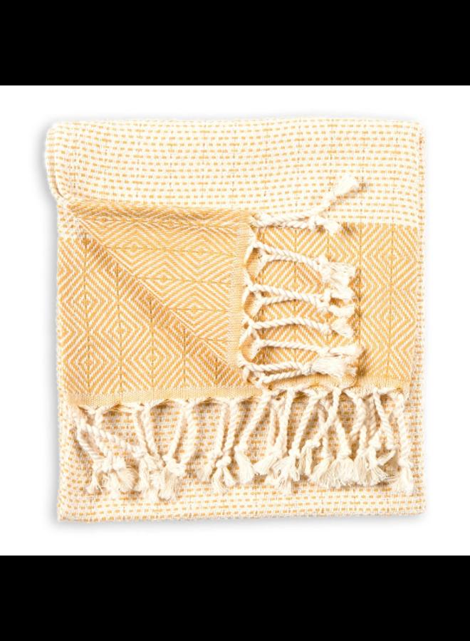 Lined Diamond Hand Towel