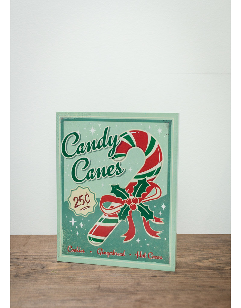 Vintage Candy Canes Block