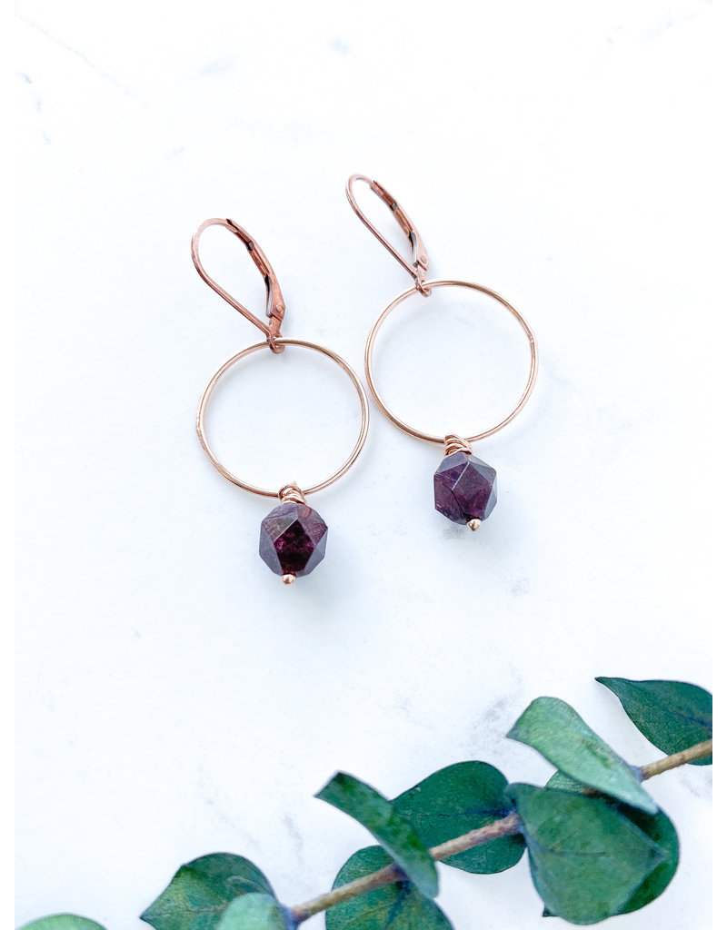 Vic Earrings Rose Gold