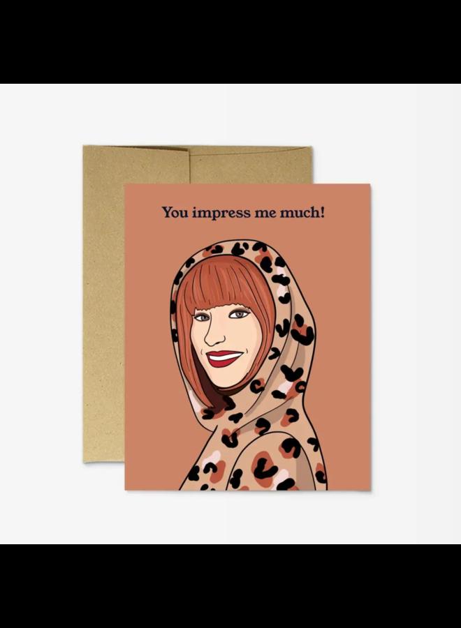 Shania Twain Impress Card