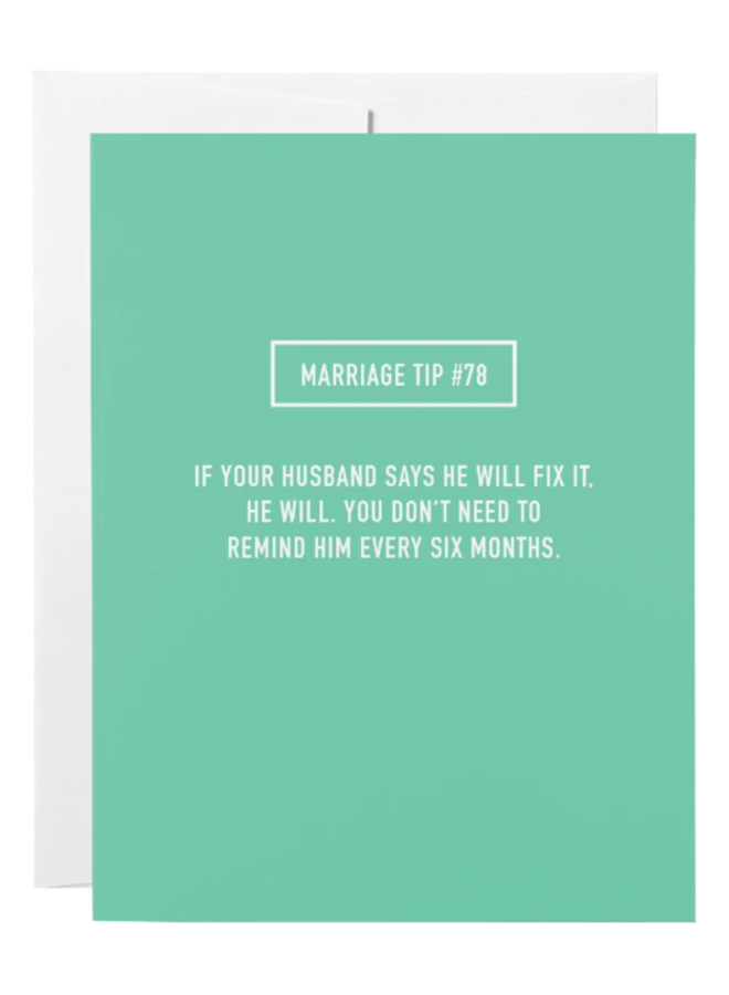 Classy Marriage Greeting Card