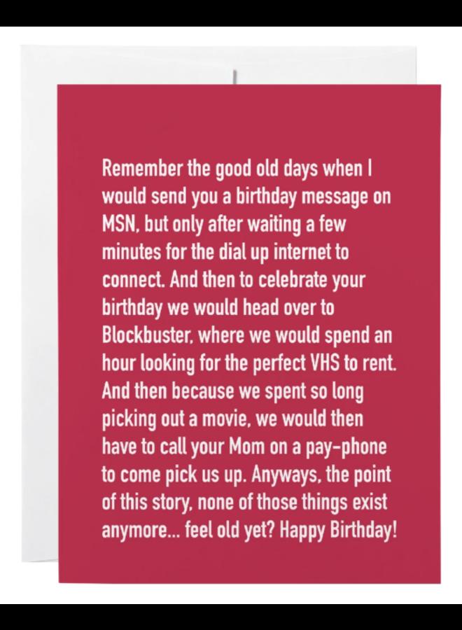 Classy Birthday Greeting Card