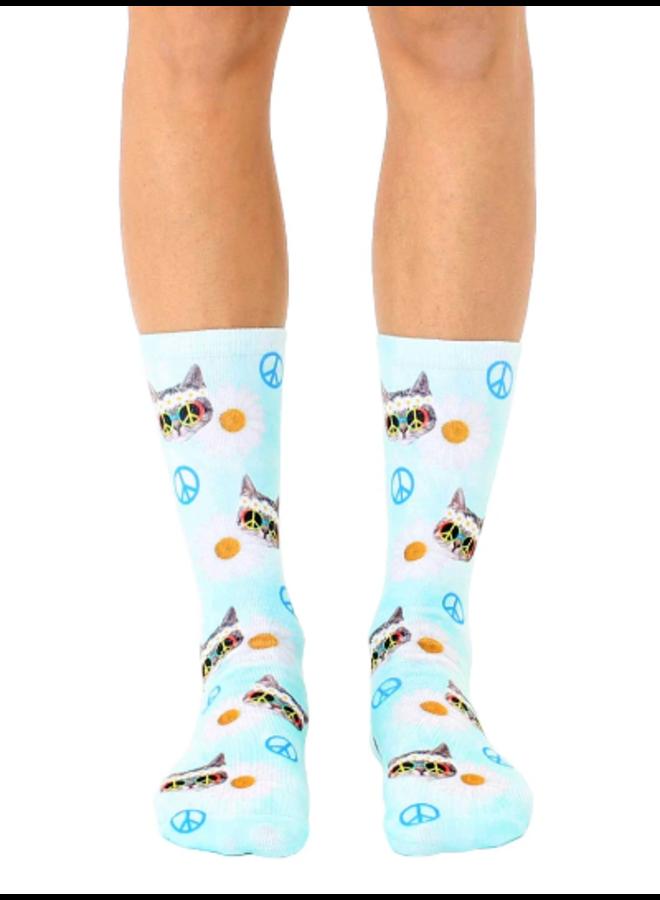 Crew Socks Hippy Cat