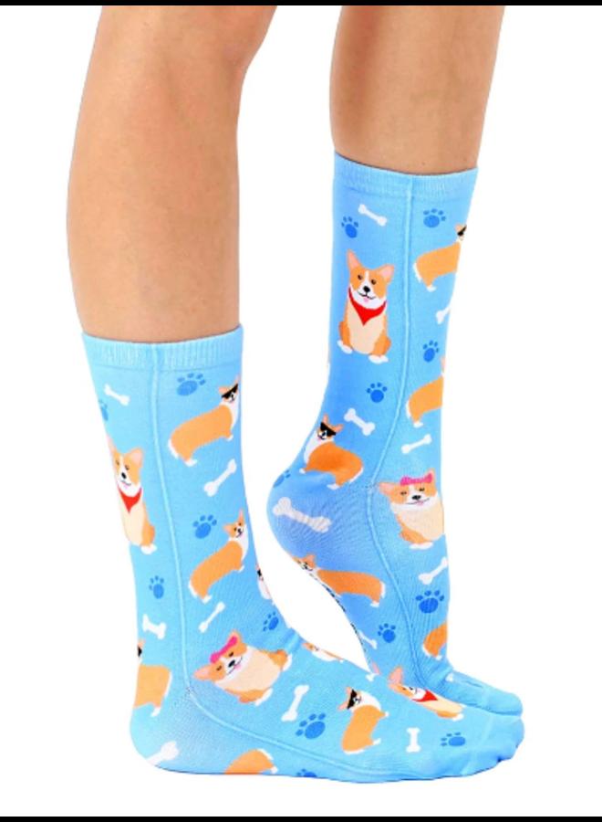 Crew Socks Corgi
