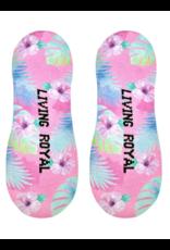 Liner Socks Pink Hibiscus
