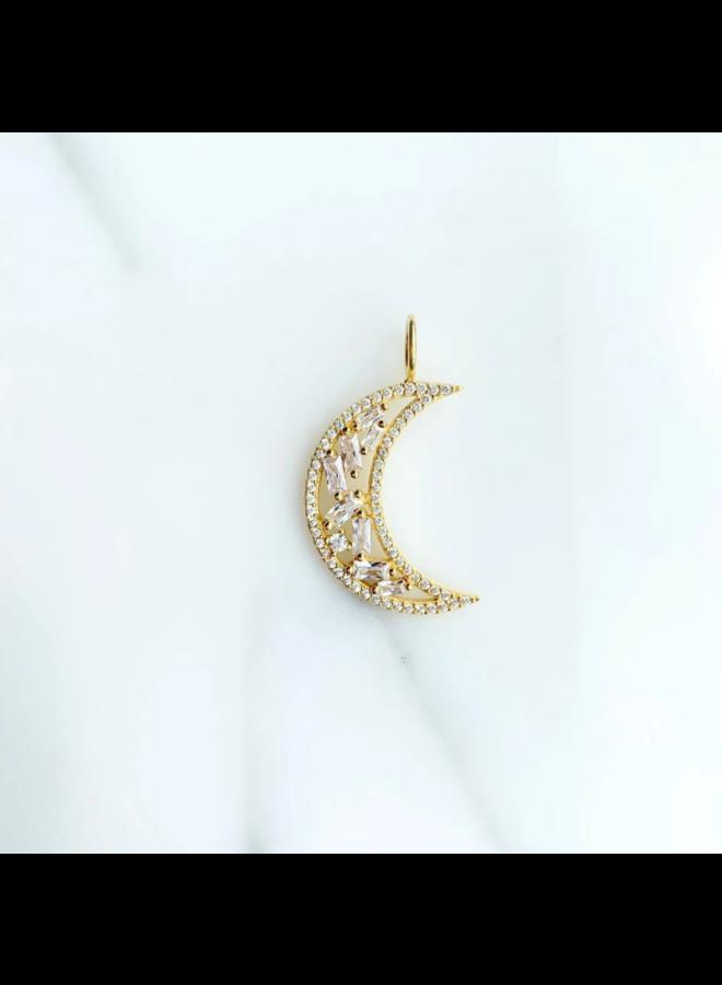 Baguette Moon Charm